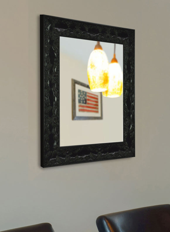 American Made Rayne Black Endicott Square Wall Mirror (V080) *Suggested Retail*