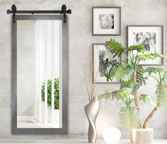 Non-Beveled Wall Mirror with Barn Door Kit (V084CVXT) *Suggested Retail*