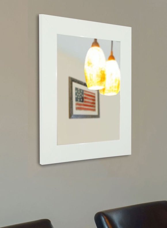 American Made Rayne Delta White Wall Mirror (V087) *Suggested Retail*