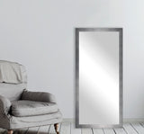 American Made Rayne Taciturn Silver Gunmetal Tall Wall Mirror (V095T) *Suggested Retail*