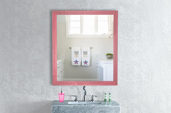 American Made Rayne Vintage Pink Square Mirror (S096) *Suggested Retail*