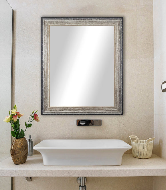 American Made Rayne Brown Brushed Wall Mirror (V108) *Suggested Retail*