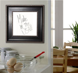 American Made Rayne Black With Silver Trim Dry Erase Board (W08) *Suggested Retail*