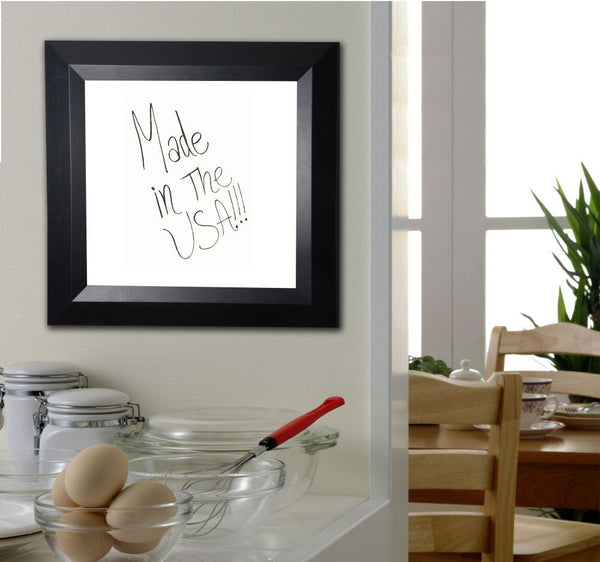 American Made Rayne Solid Black Angle Dry Erase Board - W09 ~Suggested Retail~