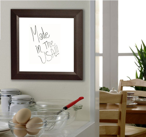 American Made Rayne Dark Walnut Dry Erase Board - W16 ~Suggested Retail~