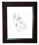 American Made Rayne Dark Walnut Dry Erase Board (W16) *Suggested Retail*