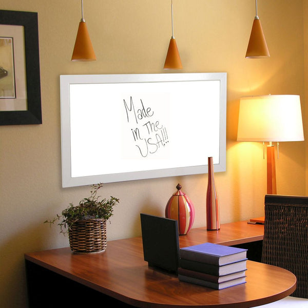 American Made Rayne Glossy White Dry Erase Board - W21 ~Suggested Retail~