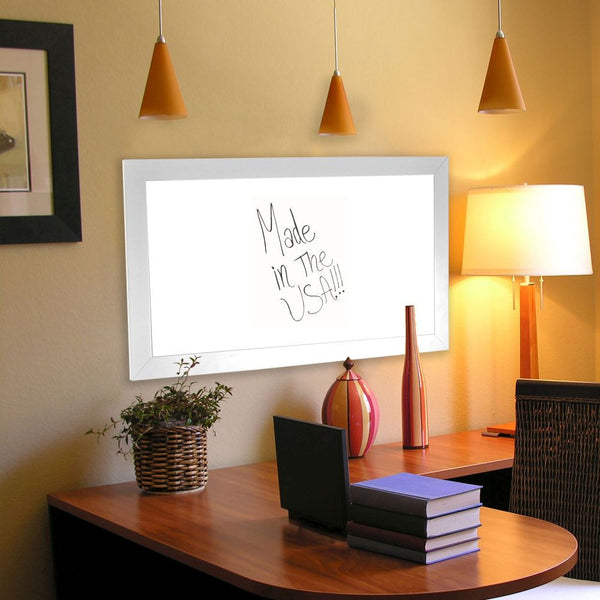 American Made Rayne White Satin Wide Dry Erase Board - W36 ~Suggested Retail~