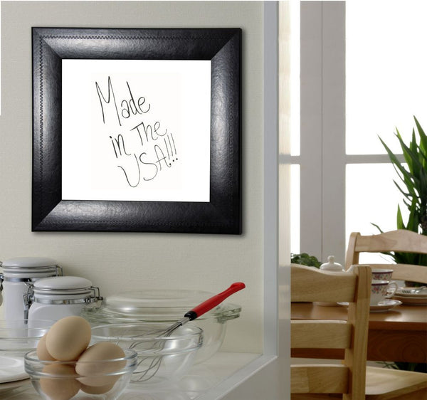 American Made Rayne Stitched Black Leather Dry Erase Board - W38 ~Suggested Retail~