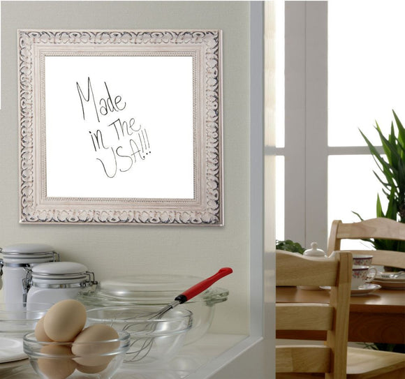American Made Rayne French Victorian White Dry Erase Board (W39) *Suggested Retail*