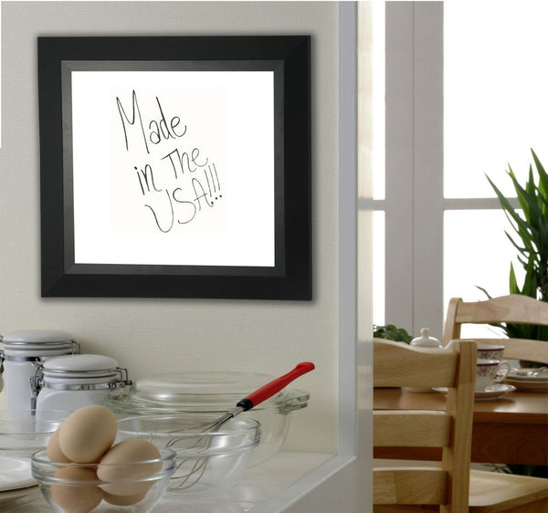 American Made Rayne Attractive Matte Black Dry Erase Board - W53 ~Suggested Retail~