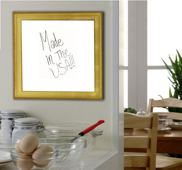 American Made Rayne Vintage Gold Dry Erase Board - W57 ~Suggested Retail~