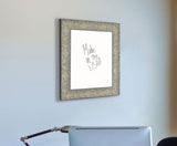 American Made Rayne Maclaren Pewter Dry Erase Board (W79) *Suggested Retail*