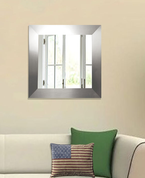 American Made Rayne Silver Wide Square Wall Mirror (S003) *Suggested Retail*