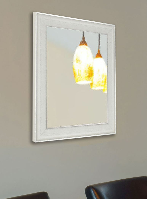 American Made Rayne Vintage White Wall Mirror - V056 ~Suggested Retail~