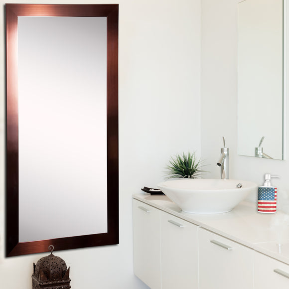 American Made Rayne Shiny Bronze Tall Mirror Size 28x63 - R020T ~Suggested Retail~