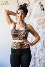 Leopard Cross Back Sports Bra Bralette