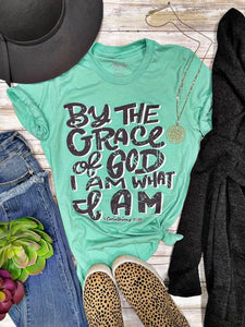 By the Grace Vintage Mint TEE