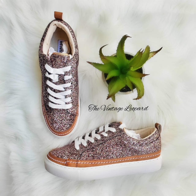 Chestnut Bronze Glitter Sneakers