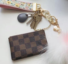 Chloe Brown Check Coin Purse Keychain