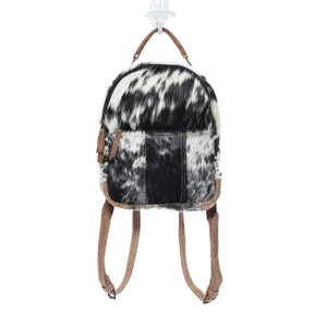 Myra Cowhide Leather Small Compact Backpack
