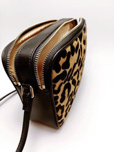 The Charlie Leather Hair on Hide Leopard Double Zip Crossbody