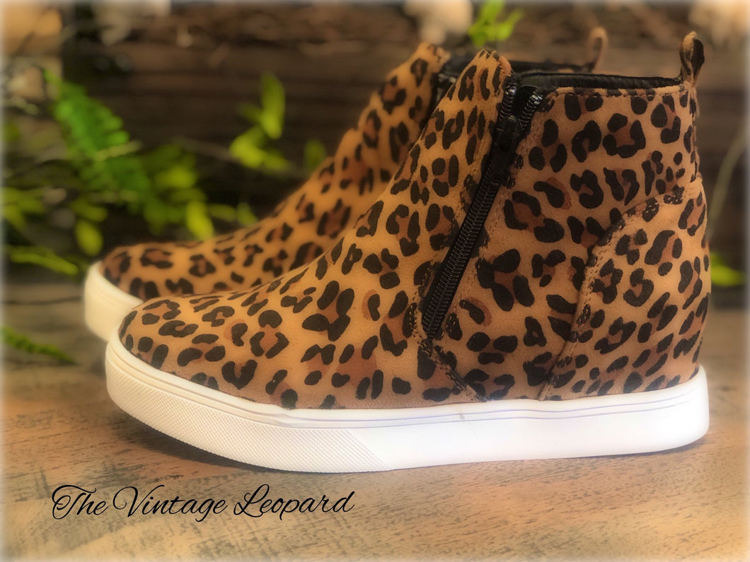 Corky's Leopard Hunt Wedge Sneaker Shoe