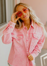 Acid Wash Pink Jean Jacket