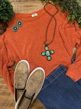 Mendy Fuzzy Bright Orange Sweater