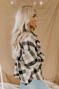 Weekend Getaway Black Plaid Flannel
