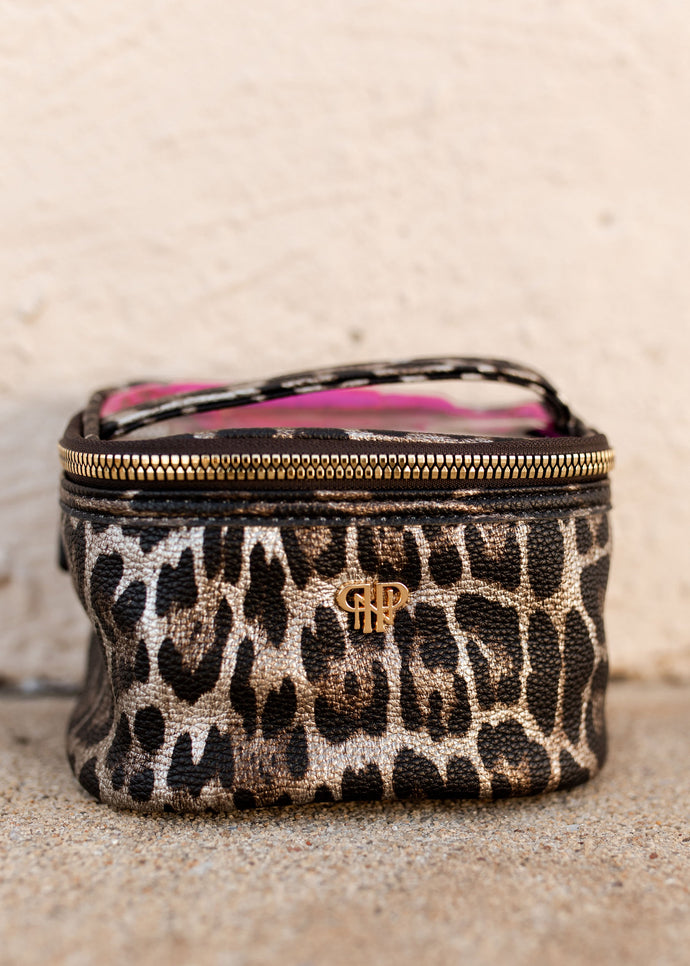 PurseN Getaway BRONZE LEOPARD Jewelry Case