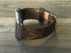 Upcycled Louis Vuitton Apple Smartwatch Watch Band