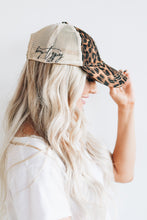 Upcycled LV & Leopard Distressed Vintage Cap