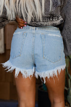 Dallas High Rise Light Denim Shorts