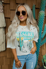 Desert Dreamin' Khaki Distressed Oversized Tee