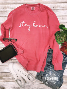 Stay Home Vintage Watermelon Sweatshirt
