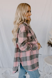 Spotted In Aspen Pink Plaid Jacket