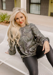 Well Traveled Camo Thermal Top