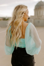 Load image into Gallery viewer, Sweetheart Mint Mesh Sleeve Top