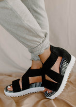 Very G Allie Black Strap Sandal