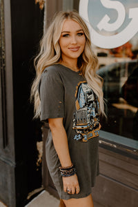 Rollin Thunder Vintage Grey Distressed Tee