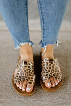 Load image into Gallery viewer, Corky's Bogalusa Gold Leopard Sandal Slides