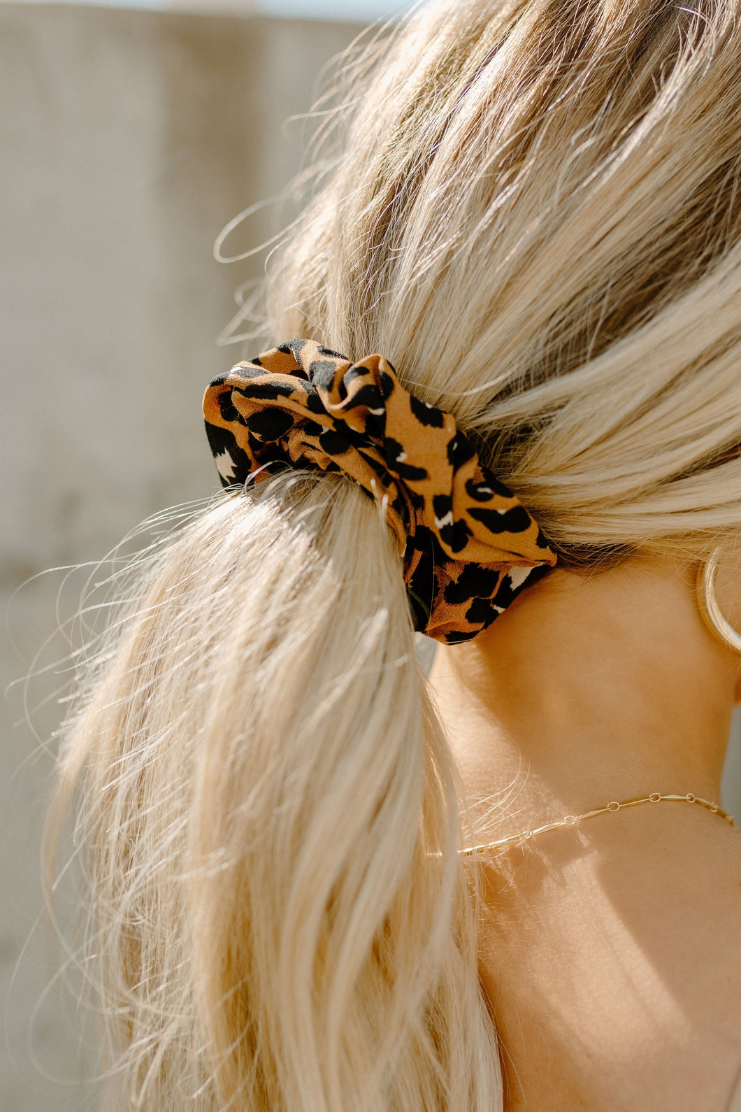 Wild About You Leopard Scrunchie