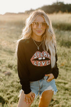Speak Love Fleece Black Pullover