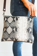 Alexa Upcycled Leather Python Crossbody