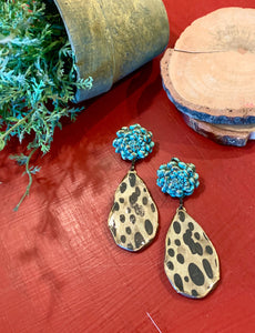 Mum's the Word Leopard & Turquoise Earrings