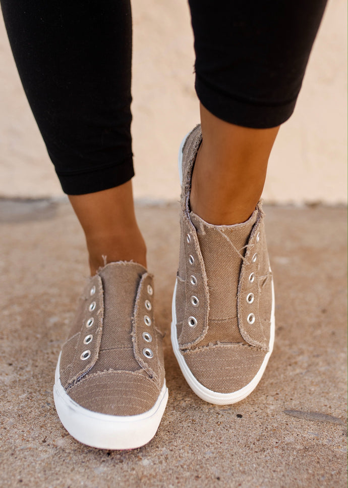 Corky's Babalu Taupe Slip On Sneakers
