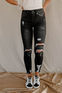 Dark Grey Kancan High Rise Skinny Jeans