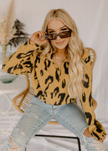 Set The Tone Golden Yellow Leopard Top