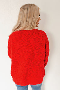 Holiday Red Popcorn Sweater